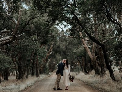 Leanne + Ben // Winter elopement // Kyneton, Vic.